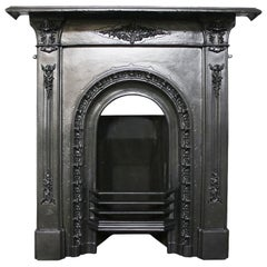 Antique Mid-Victorian Cast Iron Combination Fireplace