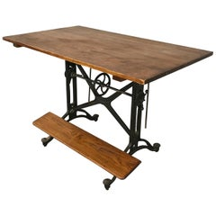Keuffel & Esser Co #16535 Cast Iron Drafting Table