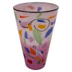Richard Marquis for Noble Effort Signed Studio Glass Vase
