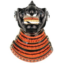 Japanese Meiji Period Samurai Mask