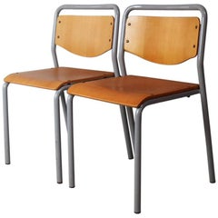 1970s Danish Industrial Stacking Chairs