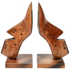 McNichol & Taylor Wood Shoe-Mold Bookends