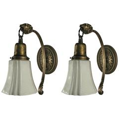 Pair of 1920s Ram Sconces