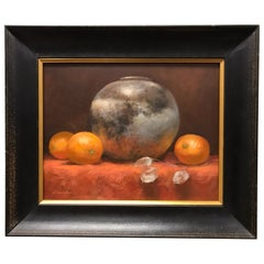Three Oranges Still Life Oil Painting by Katherine Simmons
