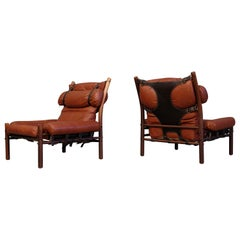 Pair of Arne Norell Easy Chairs Model Inca, 1960s