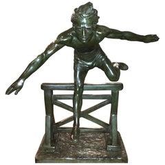 Chiparus Jumper Hurdle Male 1930s Art Deco Sculpture