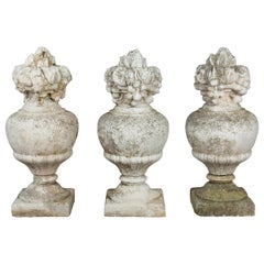 Set of 3 French Architectural Finials