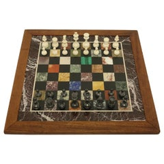 Specimen Marble Board Chess Set