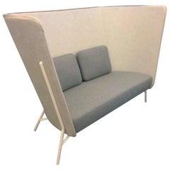 White and Grey Aura Two-Seat Sofa