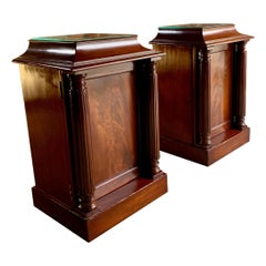 Antique Mahogany Bedside Cabinets Nightstands Tables 19th Century Victorian