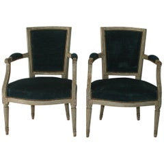 18th Century French Pair of Louis XVI Chairs