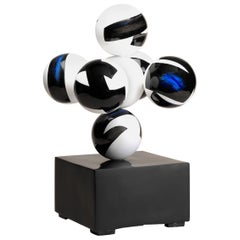 Seven Spheres Lacquered Ceramic Sculpture by Golem