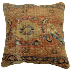 Worn Antique Persian Sultanabad Pillow