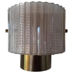 Carl Fagerlund Wall Lamp Wall Light Brass and Glass 1960s, Orrefors, Sweden