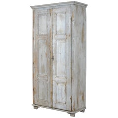 Vintage Cupboard with Original Paint, 1910s
