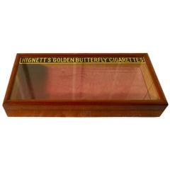 Victorian Mahogany Counter Top Cigarette Cabinet, Shop Display