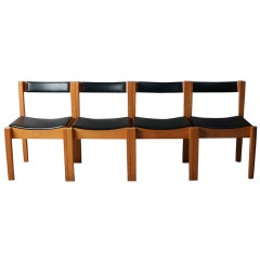 Set of 4 1960s Mid-Century Modern Clive Bacon Jigsaw Chairs