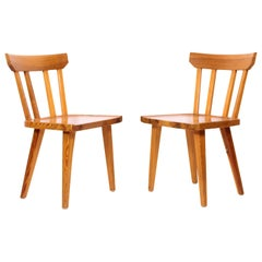 Pair of Midcentury Pine Dining Chairs by Karl Andersson & Söner