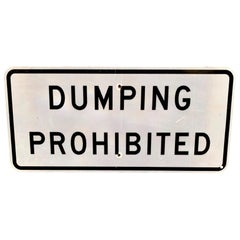 California 'Dumping Prohibited' Highway Sign