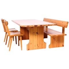 Midcentury Swedish Pine Dining Room Set by Karl Andersson & Söner
