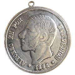 Antique Spanish Coin Dated 1882