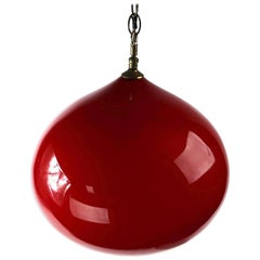 Lipstick Red Cased Glass Globe by Holmegaard