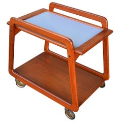 Teak Reversible Tray Top Bar Cart or Tea Trolley by Sika Møbler