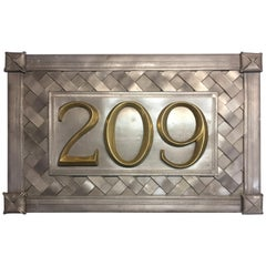 Custom Lead Address Plaques with Brass Numbers or Letters