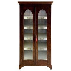 Antique French Wine Display Cabinet Vitrine 55 Bottle Wine Cellar Victorian 1875