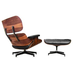 Dramatic Herman Miller Eames Lounge Chair and Ottoman