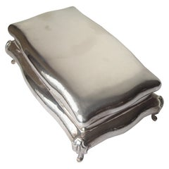 Buccellati Sterling Silver Large Jewelry Box, Stamped