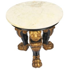 Antique Regency Revival Marble-Top Occasional Table, 19th Century