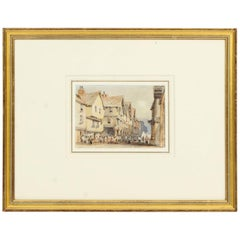 Antique Watercolor by George Pyne 19th Century