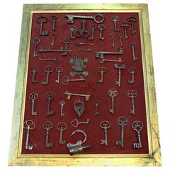 Wrought Iron Antique Keys, Locks and Ironwork, 15th-19th Century