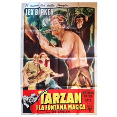 Tarzan Fontana Magica Re Jungla Sholem Barker Joyce Cita Film Manifesto Original