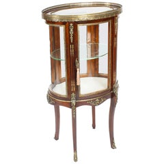 Antique Mahogany Ormolu Mounted Bijouterie Display Cabinet, 19th Century