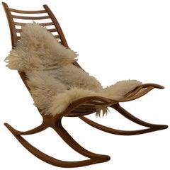 Wishbone Oak Rocking Chair by Robin Williams, UK, 1970s