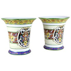 Pair of Hand Painted Porcelain Vases, Italy, circa 1900