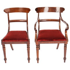 Antique Pair of Victorian Mahogany Desk Chairs, 19th Century