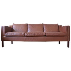 Danish Stouby Leather Sofa