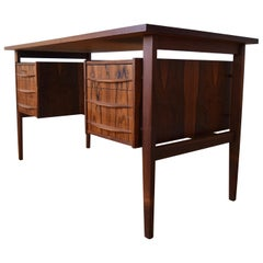 Danish Midcentury Brazilian Rosewood Floating Desk, 1960s