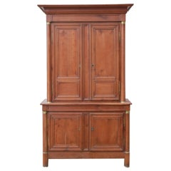 Antique French Housekeepers Cupboard Fruitwood 18th Century, circa 1790