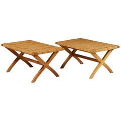 Set of Two Benches, Anonymous, Denmark. 1950s