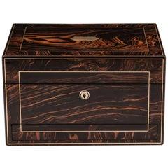 Antique Calamander Brass Jewelry Box