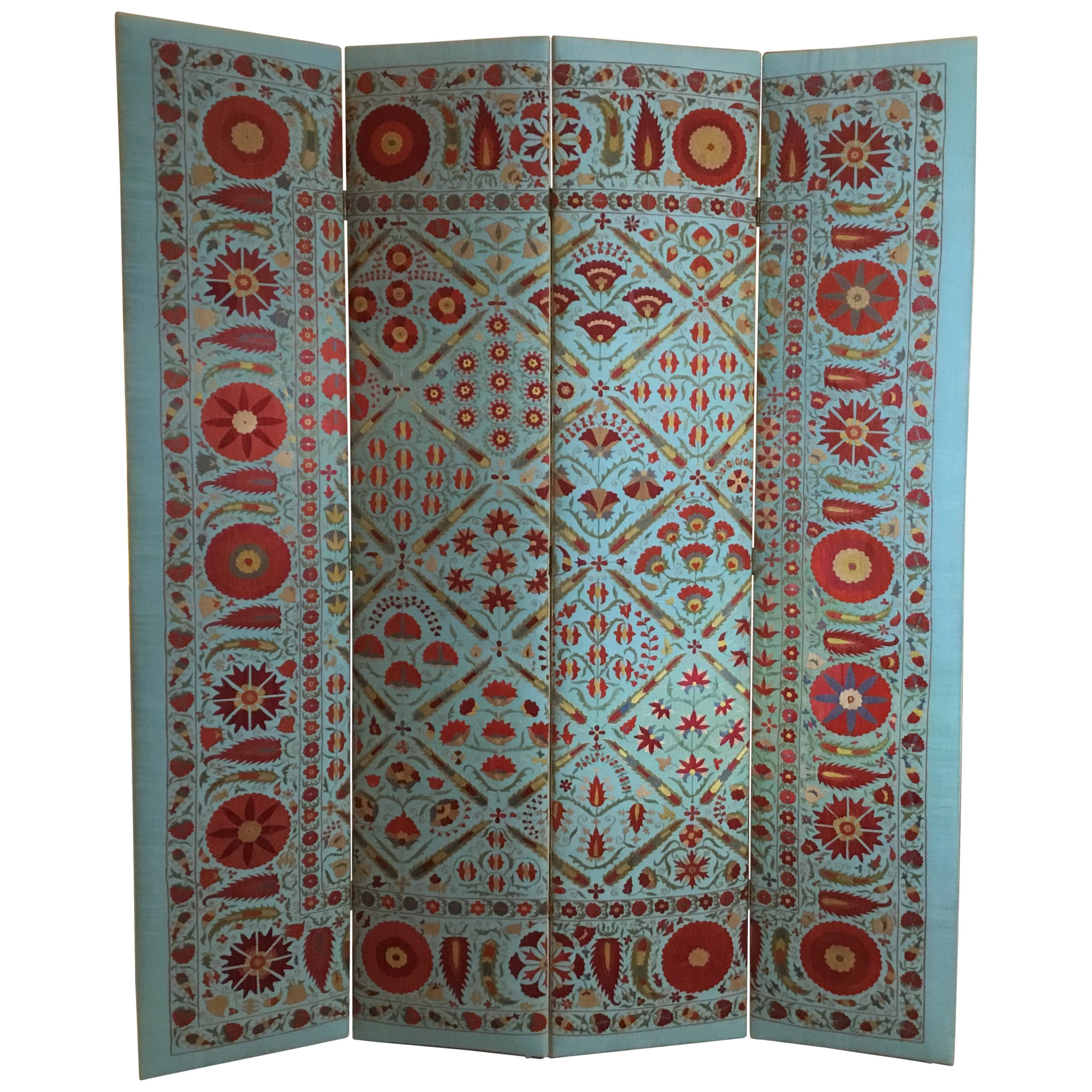 Vintage Hand Embroidery Suzani Screen