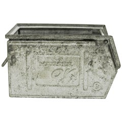 Small Galvanized Metallic Crates 'Varnished', France, circa 1950
