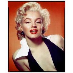 """Marilyn Monroe in a Black and White Dress"", 1952 Gene Kornman"