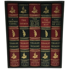 Charles Dickens Christmas Books, Special Illustrated Edition Set of Five
