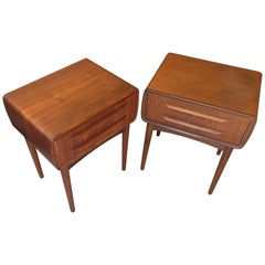 Pair of Two-Drawer Teak Bedside Tables by Johannes Andersen for CFC Silkeborg