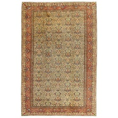 Vintage Kaysari Rug from Turkey with Entwined Floral and Palmette Motifs